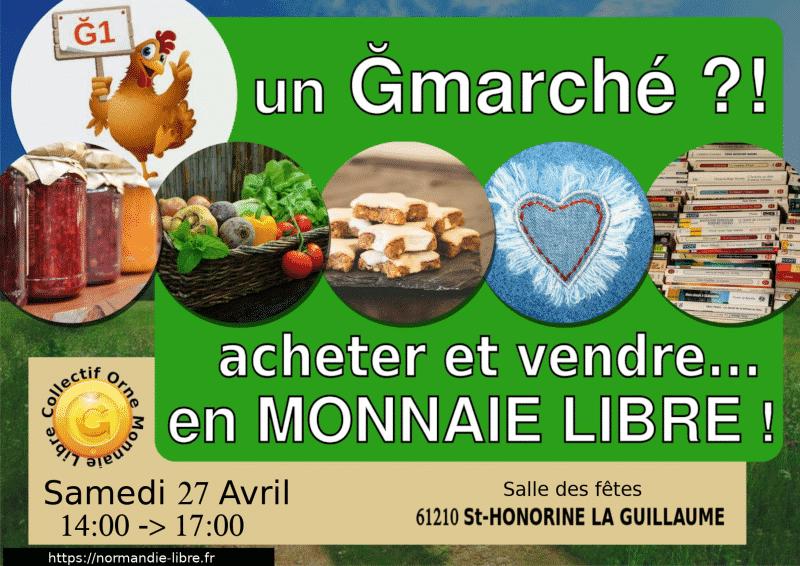 Ğmarché samedi 27 avril 2019 à Ste-Honorine La Guillaume 🗓 🗺