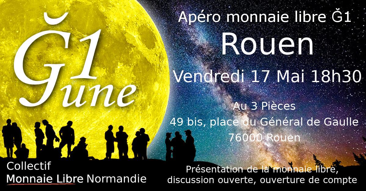 2ème Apéro monnaie libre Rouen 🗓 🗺