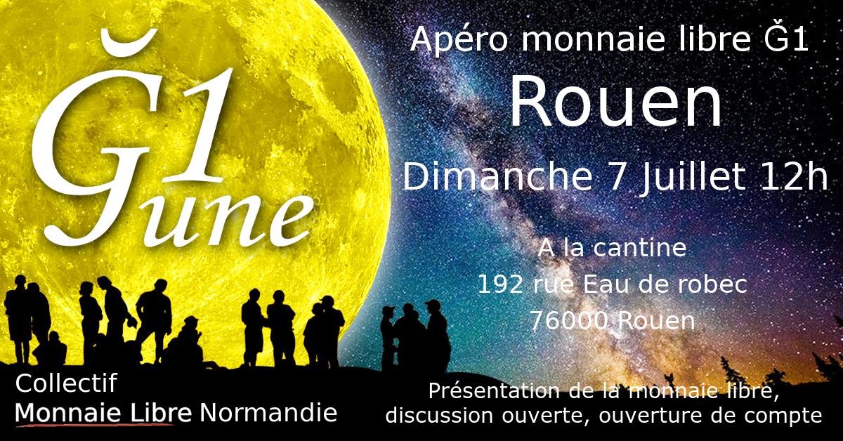 3ème Apéro monnaie libre Rouen 🗓 🗺